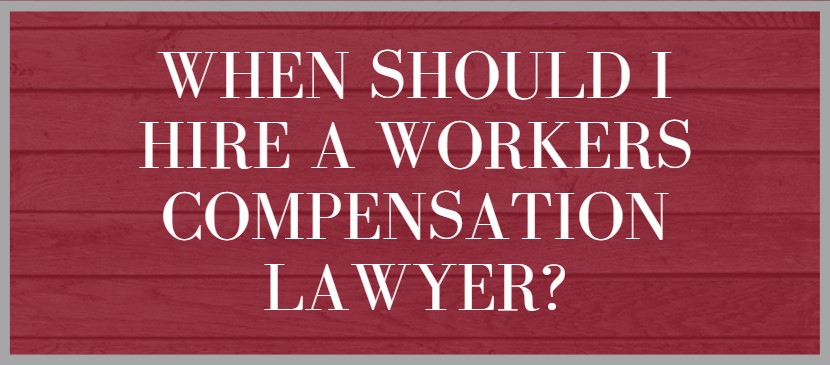 Graphic answering workers compensation question